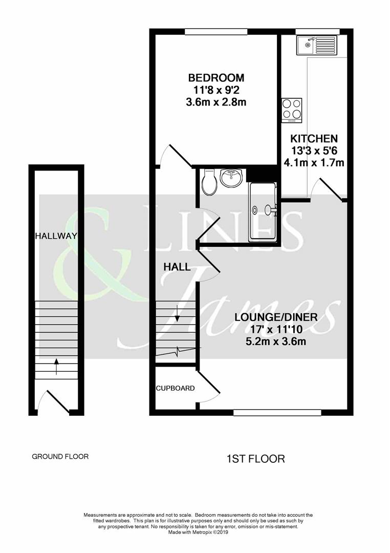 Floorplan for The Pines, Horsham